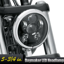 """NEW 5-3/4"""" Black LED Projection Daymaker Headlight For Harley Sportster XL Dyna"""