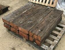 1.0m Length Rustic Harwood Sleepers Untreated No Creosote, Tar, Or Chemicals
