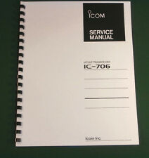 "Icom IC-706 Service Manual: w/11""X34"" Foldout Schematics & Protective Covers!"