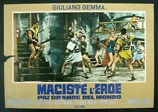 CINEMA-fotobusta MACISTE L'EROE PIU' GRANDE DEL MONDO gemma, MICHELE LUPO