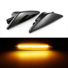 1 pair LED Side Indicator Blinker Smoke Black For BMW x3 f25 x5 e70 x6 e71
