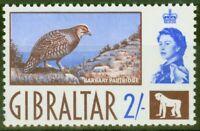 Gibraltar 1960 2s Barbary Partridge SG170 Fine MNH