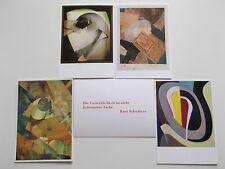 Glasblume Kunstpostkarte Kurt Schwitters