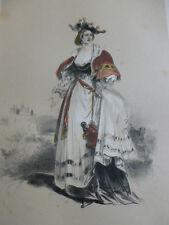 LITHOGRAPHIE FRAGONARD 1840 / LA CHATELAINE  XVIe