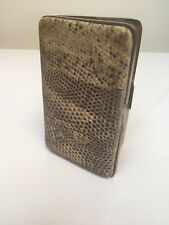 Vintage Art Deco 1930s Hinged Snakeskin Coin/Note/Stamp Purse