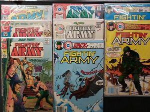 LOT OF 8 FIGHTIN' ARMY CHARLTON COMICS