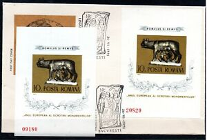 ROMANIA , 1975 , ROMULUS , scarce S/S , TWICE ! , MNH and FDC , LOOK !