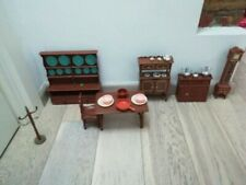 Rare Galletti Cicogna Milady 1960s doll furnitures set dining room