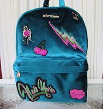 Betsey Johnson Baby's Got Back Velour Velvet Kitsch Backpack School Bag NWT