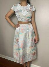 BCBG MaxAzria Sz 4 Adna Open Back Embellished Jacquard Two Piece Set Skirt Dress