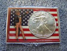 2018 American Eagle Silver Dollar - Uncle Sam & American Flag Case