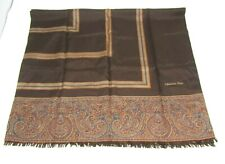Christian Dior Brown Pattern 100% Silk Scarf Size 50'' x 28.5'' Authentic