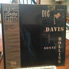 MILES DAVIS & SONNY ROLLINS LP DIG PRESTIGE OJC-005 w/obi SHRINK EX/EX