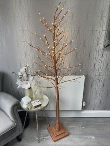 Alison Cork Bronze Indoor Pre-Lit Glitter 180cm Branch Twig Christmas Tree New