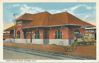 OWOSSO MI - Grand Trunk Railroad Depot