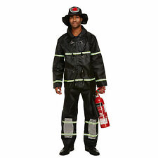 Fireman Fancy Dress Costume Uniform Stag Party Adult Mens Medium Firefighter