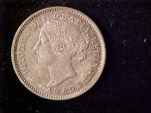 CANADA VICTORIA 10 CENTS 1888