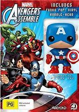 Avengers Assemble Season 1 plus Captain America Figurine NEW PAL 4-DVD BoxSet