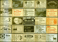25 alte Gasthaus-Streichholzetiketten aus Deutschland #898