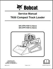 Bobcat T630 Compact Track Loader Service Manual on a CD
