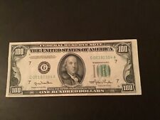 1950 One Hundred $100 Dollar Federal Reserve Note old money u.s.currency Chicago