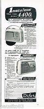 PUBLICITE ADVERTISING 075  1959  les Transistors DIFOR MICROCAPTE & TRANSISCAPTE