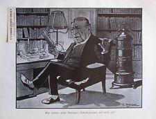 Theo Zasche Brünners Petroleumofen - Kunstblatt aus 1907 Wien