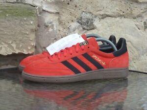 2013 Adidas Handball Spezial UK7.5 / US8 Red Black Gum Suede London CW Rare New