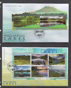 Philippine Stamps 2018 Philippine Lakes Complete set First Day Covers