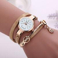 2016 Mode Femmes Montre Femmes acier inoxydable bracelet en cuir poignet montres