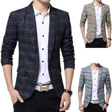 ND_ Men Fashion Plaids Slim Fit Casual Suit Blazer Coat Jacket Outwear Top Lot
