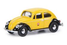 Schuco Volkswagen VW ESCARABAJO BEETLE Ptt Post Suiza Amarillo 1:64 Art