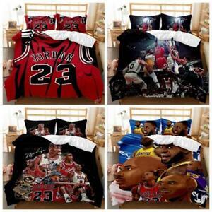 Basketball Sports Bedding Set Quilt Doona Duvet Cover Set Single Double King Bed
