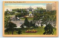 Grand Army Plaza Brooklyn NY New York Civil War Memorial Vintage Postcard B52