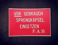 WWI German  Stencil for Stielhandgranate М17