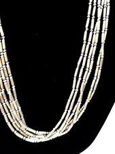 """Chico's Designer 38"""" Multi Strand Necklace Segmented Silver-tone Lobster Clasp"""