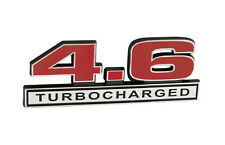 """1996-2010 Ford Mustang GT 4.6 Turbocharged 5"""" Emblem Red Inlay w/ Chrome Trim"""