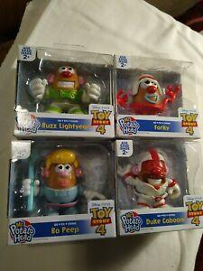 Disney Toy Story 4. Set of 4. Buzz, BoPeep, Duke, Forky Mr Potato Head. New
