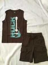 NWT Gymboree GUITAR ROCK 6 Shirt Top Knit Cargo Shorts Tank SURF LEGEND Outfit