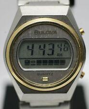 Rare - Bulova N7 1977 Quartz Digital Complicated LCD Digital Men's Wrist Watch