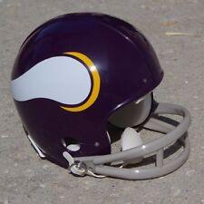 MINNESOTA VIKINGS 1960-73 THROWBACK mini football helmet 2 BAR MASK, LARGE LOGO