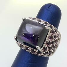 Fancy Fashion Cabochon Cocktails Style Amethyst Ring Size 7