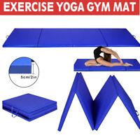 8' Exercise Four-Fold Gym Gymnastics Yoga Mat EPE Foam 2' Thick Martial Arts