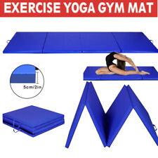 8' Exercise Four-Fold Gym Gymnastics Yoga Mat EPE Foam 2' Thick Martial Arts