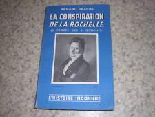 1937.conspiration de la Rochelle / Praviel.Envoi autographe