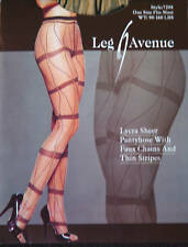 Leg Avenue Fashion Lycra Sheer Faux Chain Thin Stripe Pantyhose One Size