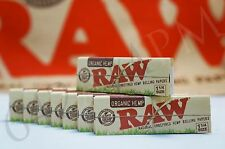 8 PACKS OF AUTHENTIC RAW ROLLING PAPER ORGANIC HEMP 1 1/4 NATURAL