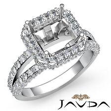 Diamond Engagement Pre-Set Ring Platinum 950 Asscher VS1-VS2 Semi Mount 1.53Ct