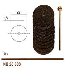 Proxxon 10 Dischi per troncare all'ossido di alluminio con gambo portautensile