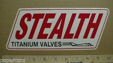 Stealth Titanium Valves Engine Auto NHRA drag racing hot rod sticker decal 1990s